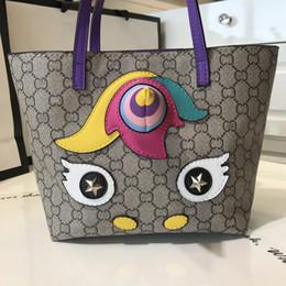 Venta al por mayor de Envío gratis de cuero Unicorn horse Messenger Bag Niños School Bag Cartoon Crossbody Bolsa para Niñas tote Regalo de Las Mujeres Bolso de las mujeres