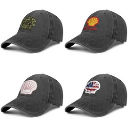 print custom cards NZ - Shell gasoline gas card logo black for men and women baseball denim cap cool designer custom sports vintage custom best personalised me