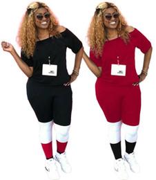 $enCountryForm.capitalKeyWord Australia - Women tracksuit brand designer shirt pantsuit t shit outfits pullover legging womens tops tees fashion print slim 2 piece set klw1898