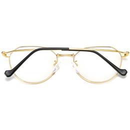 $enCountryForm.capitalKeyWord Australia - Computer Glasses Fashion Gold Frame Radiation Glasses Women's Big Box Anti-Glare Men And Women Radiation Protection Goggles Mobile Computer