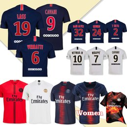 32e2146f8 New hot selling PSG 9 Cavani home Away Soccer Jersey 2019 Away Soccer Shirt  6 VERRATTI 7 MBAPPE Football With Patch