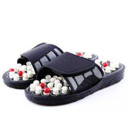 chinese red slippers Australia - Acupoint Massage Slippers Sandal for Men Feet Chinese Acupressure Therapy Medical Rotating Foot Massager Shoes Unisex