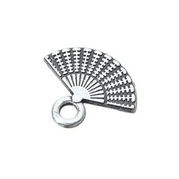Silver Tone Floating Charm Australia - Fishhook 20pcs Custom Bracelet Jewelry Antique Silver Color Metal Pendants And Charms With Tone Hand Fan Floating Shaped