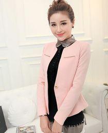 Brown Herringbone Suit Australia - Leding casual suit jacket new style Korean version loose Khaki long sleeve suit jacket for women in summer of 2019