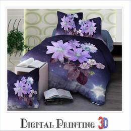 Discount flower silver sheet - 3D Flower Bed Linings Duvet Cover Bed Sheet Pillowcases Cover Set