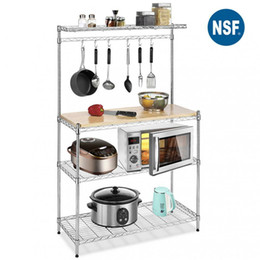 Metal Fırıncı Raf Organizatör Standı Raf Mutfak Mikrodalga Sepeti Depolama Standı