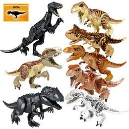 Jurassic World Dinosaur Building Australia - Jurassic World 2 Building Blocks Dinosaurs Figures Bricks Tyrannosaurus Rex Indominus Rex I-Rex Assemble Kids Toys