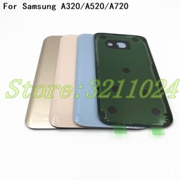 Galaxy A3 Housing Australia - Original Battery Glass Cover Housing Replacement For Samsung Galaxy A3 A5 A7 2017 A320 A520 A720 Back Door With