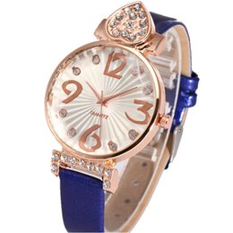 $enCountryForm.capitalKeyWord NZ - 2019 new women love heart shape diamond big numbers leather watches wholesale ladies casual dress simple design quartz watches