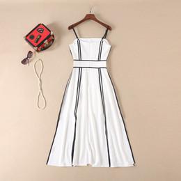4e9a10b24a 310 2019 Summer Runway Dress A Line Mid Calf Sleeveless Spaghetti Strap  Print Empire Brand Same Style Runway Dress AS