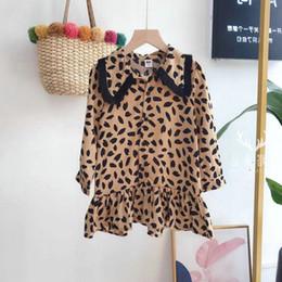 e6693e8b802814b 2019 весна новый детский леопардовый принт с принтом из зерен для девочек с  кисточками с длинными рукавами платье принцессы для детей однобортный  фальбала ...