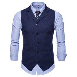 $enCountryForm.capitalKeyWord Australia - Men's Business Casual Slim Fit Vests High Quality Spring Autumn Fashion Solid Color Single Buttons Men Vests Male Suit