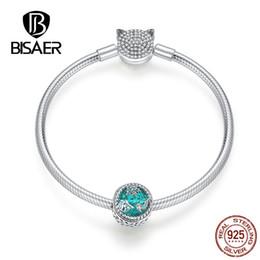 $enCountryForm.capitalKeyWord Australia - BISAER Hot Sale 925 Sterling Silver Mystery Sea Ocean World Charms Women Silver Bracelets for Women Jewelry ECB831