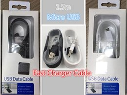 $enCountryForm.capitalKeyWord Australia - 1.5m Black White Micro USB Fast Charger Cable Data Sync Charging for Samsung Galaxy S6 s7edge Note 4 5 S4 S3 With retail box