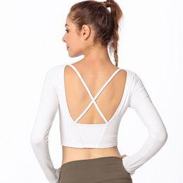 $enCountryForm.capitalKeyWord NZ - New Sports Wear for Women Gym Yoga Shirt Crop Top Women Fitness Clothing Fitness Running Sport T-Shirts Training Yoga Sportswear