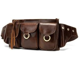 c91cd78462b Fanny Pack Genuine Leather Bag Waist small Travel Phone Pouch Bags hip Belt  Bag Men Money Belt Male Shoulder Waist Bags