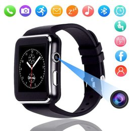 $enCountryForm.capitalKeyWord NZ - X6 smart watch 1.54 inch narrow side screen 2.5D arc step counter sleep monitoring card Bluetooth sports watch FOR: IPHONE Samsung
