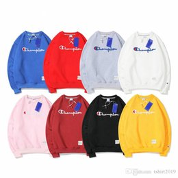 Wholesale Classic large C embroidery lover round neck velvet hoodie fashion trend street brand sport jumper with velvet hoodie