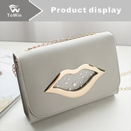 $enCountryForm.capitalKeyWord NZ - Hot Sale Fashion Mini Handbags Women Flap Bags Designer Handbags Wallets Women Crossbody Bag Solid Color Metal Lip Shoulder Bags Wholesale
