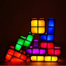 $enCountryForm.capitalKeyWord NZ - Colorful Creative Diy Magic Block Night Lights LED Luminaria For Children Gift Small Night Lamp Bedroom Bedside Nightlights