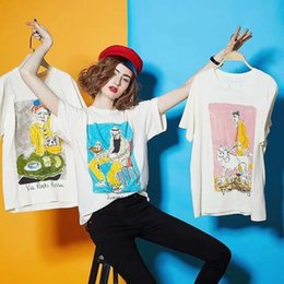 Hand Painted Mens T Shirts Australia - 2019 designer brand Fashion womens mens T-shirt Europe letter new lady short sleeved sweater Museum gentleman hand painted unisex tee tops