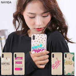 Case leather for xiaomi redmi note online shopping - Fashion Soft TPU Case Cover For Coque Xiaomi Redmi X A A a Y3 K20 Plus Note Pro Bitch mode on pink