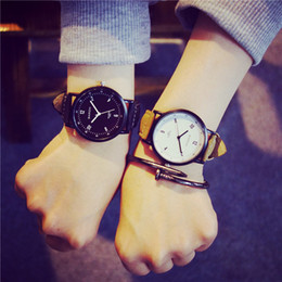 $enCountryForm.capitalKeyWord Australia - Fashion Student Function Formula Geometry Quartz Watches Men Women Couples Lover Casual Pu Leather Wristwatches With Nail Bracelet