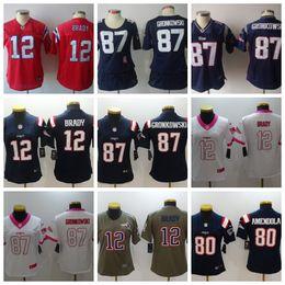 72895e7e0 Women Patriots jersey 12 Tom Brady 87 Rob Gronkowski 11 Julian Edelman 15  Chris Hogan Football Jerseys 10 Josh Gordon 14 Brandin Cooks