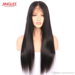 $enCountryForm.capitalKeyWord NZ - Pre Plucked Top grade Brazilian Remy Human Hair Wigs Cuticle Aligned Full Lace human Virgin Hair Wigs Straight wholesale cheap