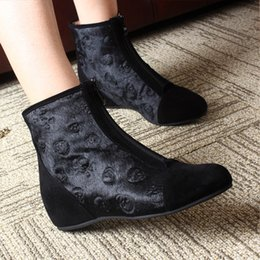$enCountryForm.capitalKeyWord NZ - European station new leather horse hair increased black hoe genuine female short boots wedge with single boots