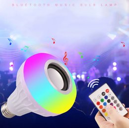$enCountryForm.capitalKeyWord NZ - E27 Smart LED Light RGB Wireless Bluetooth Speakers Bulb Lamp Music Playing Dimmable 12W Music Player Audio with 24 Keys Remote Control