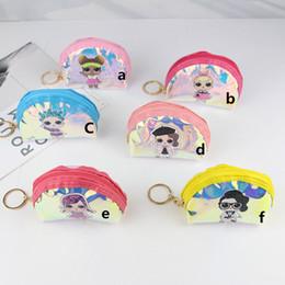 Handbags for cHildren online shopping - Ins Surprise Girls Cartoon Laser Zipper Wallet Waterproof TPU Coin Purse Children Storage Handbags Cluth Bags For Card Earphone Key C51703