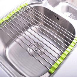 $enCountryForm.capitalKeyWord Australia - Folding Drain Rack Fruit And Vegetable Storage Rack Practical Kitchen Supplies Multi-Function Drain Rack Creative Finishing wh0599