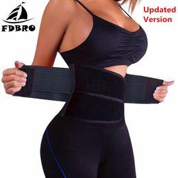 7140b99fe FDBRO Waist Trainer Sport Belt Slimming Waist Trimmer Gym Fitness Training  Belt Sport Corset Shapewear Exercise Support