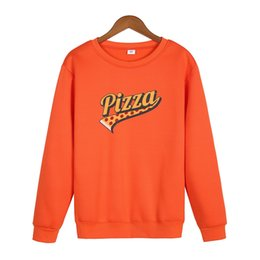 Wholesale pizza clothes online – oversize THE Pizza brand Women s Plus size Velvet Fashionable Long Sleeve Casual Sweatshirt Unicorn Print Kawaii Clothing