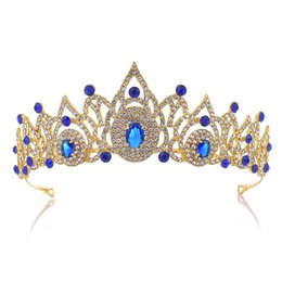 beauty crowns tiaras UK - Baroque Bridal Tiara Crystal Bride Queen Crown For Wedding Royal Hair Accessories Beauty pageant Hair Ornaments Headdress HG-090
