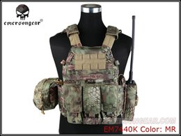 Discount tactical vests military - Emersongear LBT6094A Style Tactical Vest With 3 Pouches Hunting Airsoft Military Combat Gear Mandrake EM7440K #545638