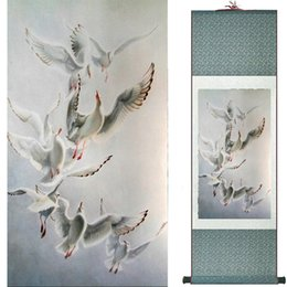 $enCountryForm.capitalKeyWord Australia - Birds And Flowers Murals Silk Rolling Traditional Chinese Painting House Decoration Painting 2019072010