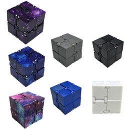 Kids Blocks Wholesale NZ - 7 Colors Infinity Cube Mini Cube Toys Kids Magic Cube Blocks Adults Finger Anxiety Toy Stress Relief Decompression Toys CCA11481 100pcs