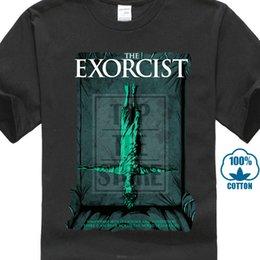 vintage black tee Australia - The Exorcist V15 W.friedkin Poster 1973 T Shirt Black All Sizes S 4xl Style Vintage Tees Short Sleeve Funny