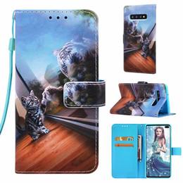 $enCountryForm.capitalKeyWord Australia - Wallet Flip Cover For Samsung Galaxy S10 Plus Case 3D Cat Tiger Leather Case For Samsung S10e S10+ S 10 S9 Plus S8Plus