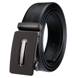 Discount hi standards - Hi-Tie Best Quality Designer Brand Name Fashion Men's Business Waist Belts Automatic Buckle Genuine Leather Belts F