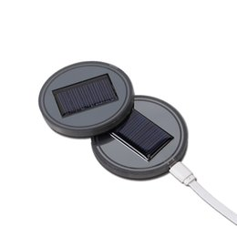usb coaster Australia - Hot Universal Car Anti Slip Mat Waterproof Solar LED Cup Bottle Drinks Holder Pad Coaster USB Car Charger Mats JLD