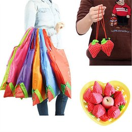 $enCountryForm.capitalKeyWord Australia - Fashion Eco Large Strawberry Resuable Nylon Foldable Grocery vegetable fruit Bag Retail Shopping Tote Bag Handbag