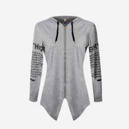 $enCountryForm.capitalKeyWord Australia - Plus Size Autumn Winter Women Hoodies Sweatshirts Letter Print Pullover Harajuku Zipper Irregular Gray Blue Black Clothes