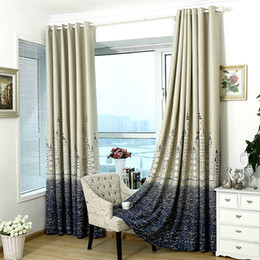 Pencere Tedavi Kale Modern Güneşlikler Gümüş Damgalama Ağır Kalın Karartma Oturma Odası Yatak Odası Yalıtım Perdesi Ev Dekorasyonu