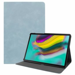 $enCountryForm.capitalKeyWord Australia - Retro Matt Wallet Leather Case For Samsung Galaxy Tab S5e 10.5 T720 T725 Tablet Luxury Sleep & Wake Up Stand Magnetic Smart Skin Cover 25pcs