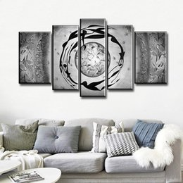 $enCountryForm.capitalKeyWord UK - NEW 100%Hand-painted Modern Dance Abstract Art Oil Painting Gray on Canvas Line Wall For Home Decoration 5 pcs set Free shipping!