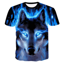 cool animal t shirts UK - 2019 Newest Wolf 3d Print Animal Cool Funny T-shirt Men Short Sleeve Summer Tops T Shirt Tshirt Male Fashion T-shirt Male4xl
