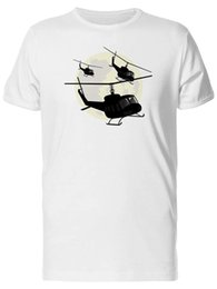 $enCountryForm.capitalKeyWord UK - Military Helicopters And Moon Men's Tee -Image by Fashion